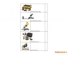 Stock elettroutensili Dewalt, Black&Decker, Stanley 122 pezzi