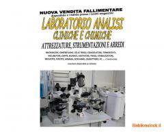 Vendita fallimentare laboratorio analisi