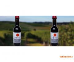bottiglie di vino San Giovese e Trebbiano