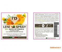 spray lenitiva con bava di lumaca